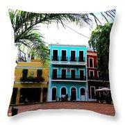 Old San Juan Pr Throw Pillow