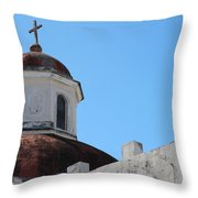 Old San Juan Puerto Rico Downtown Church Throw Pillow