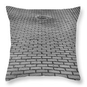 Old San Juan Puerto Rico Downtown Early Morning Throw Pillow