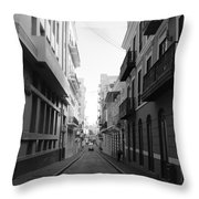 Old San Juan Puerto Rico Downtown On The Street Throw Pillow