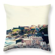 Old San Juan Puerto Rico Throw Pillow by Kim Fearheiley