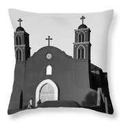 Old San Miguel Mission, Socorro, New Mexico, March 12, 2017 Throw Pillow