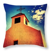 Old Santa Fe Church Throw Pillow