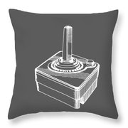 Old School Atari Video Game Controller White T-shirt Throw Pillow