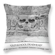 Old School Dead Head Throw Pillow