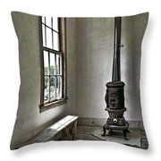 Old School House Stove Throw Pillow