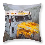 Old School Style Throw Pillow