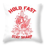 Old School Tattoo Throw Pillow