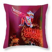 Old School Vegas Throw Pillow
