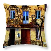Old Semidetached Houses Throw Pillow