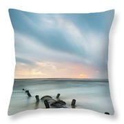 Old Sewage Pipe - Blackpool Throw Pillow