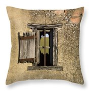 Old Shack Throw Pillow by Bernard Jaubert
