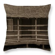 Old Shack In Sepia Throw Pillow