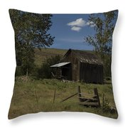 Old Shack Throw Pillow