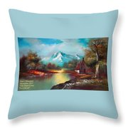 Old Shed Close To A River H A Throw Pillow