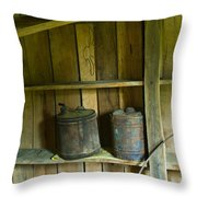 Old Shed Storage Throw Pillow