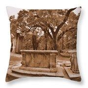 Old Sheldon Church Ruins Beaufort Sc Sepia Throw Pillow