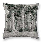 Old Sheldon Church Ruins, South Carolina Throw Pillow
