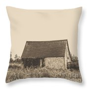 Old Shingled Farm Shack Throw Pillow