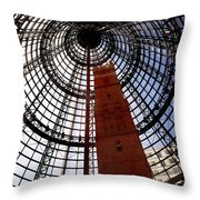 Old Shot Factory In The Mall Throw Pillow