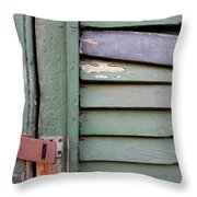Old Shutters French Quarter Throw Pillow
