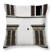 Old Shutters Throw Pillow