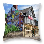 Old Silk Mill - Derby Throw Pillow