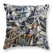 Old Silverware Throw Pillow