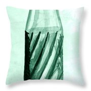 Old Soda Bottle One Throw Pillow