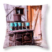 Old Soldier Throw Pillow by William Dey