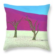 Old Soldiers Throw Pillow