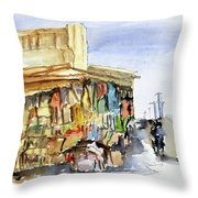 Old Souk Kuwait City Throw Pillow