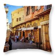 Old Souk Of Sidon Throw Pillow