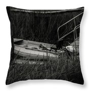 Old South Fishing Throw Pillow