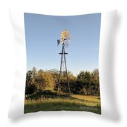 Old Southern Windmill Throw Pillow