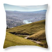 Old Spiral Highway To Lewiston Throw Pillow