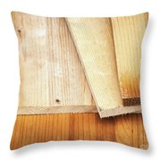 Old Spruce Boards On Top Of Each Other Throw Pillow
