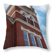 Old St Pete Steeple Throw Pillow