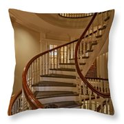 Old State House Spiral Staircase Throw Pillow