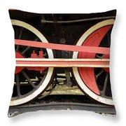 Old Steam Locomotive Iron Rusty Wheels Throw Pillow