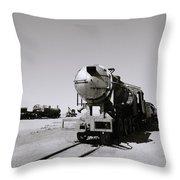 Old Steam Train Throw Pillow