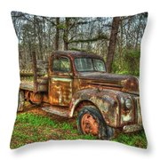 Old Still Art 1947 Ford Stakebed Pickup Truck Ar Throw Pillow