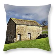 Old Stone Barns Throw Pillow