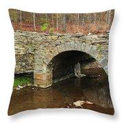 Old Stone Bridge In Illinois 1 Throw Pillow