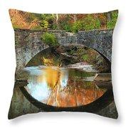 Old Stone Bridge Over Fountain Creek 2 Throw Pillow