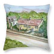 Old Stone Buildings Throw Pillow