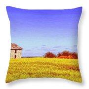 Old Stone Farmhouse Tuscany Throw Pillow