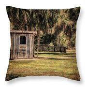 Old Storage Shed Throw Pillow
