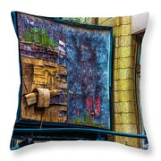 Old Store Sign Pittsburgh Pennsylvania V4 Dsc0917 Throw Pillow