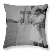 Old Street Throw Pillow